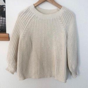 Cozy, cream Aerie sweater